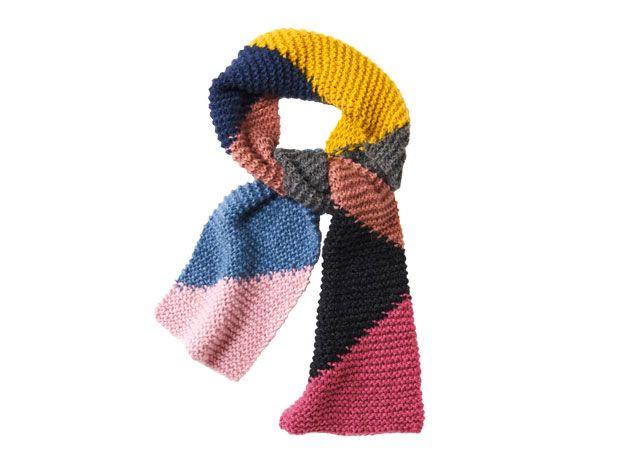 Strickmuster: Kraus-rechts gestrickter Schal - eine Anleitung ...