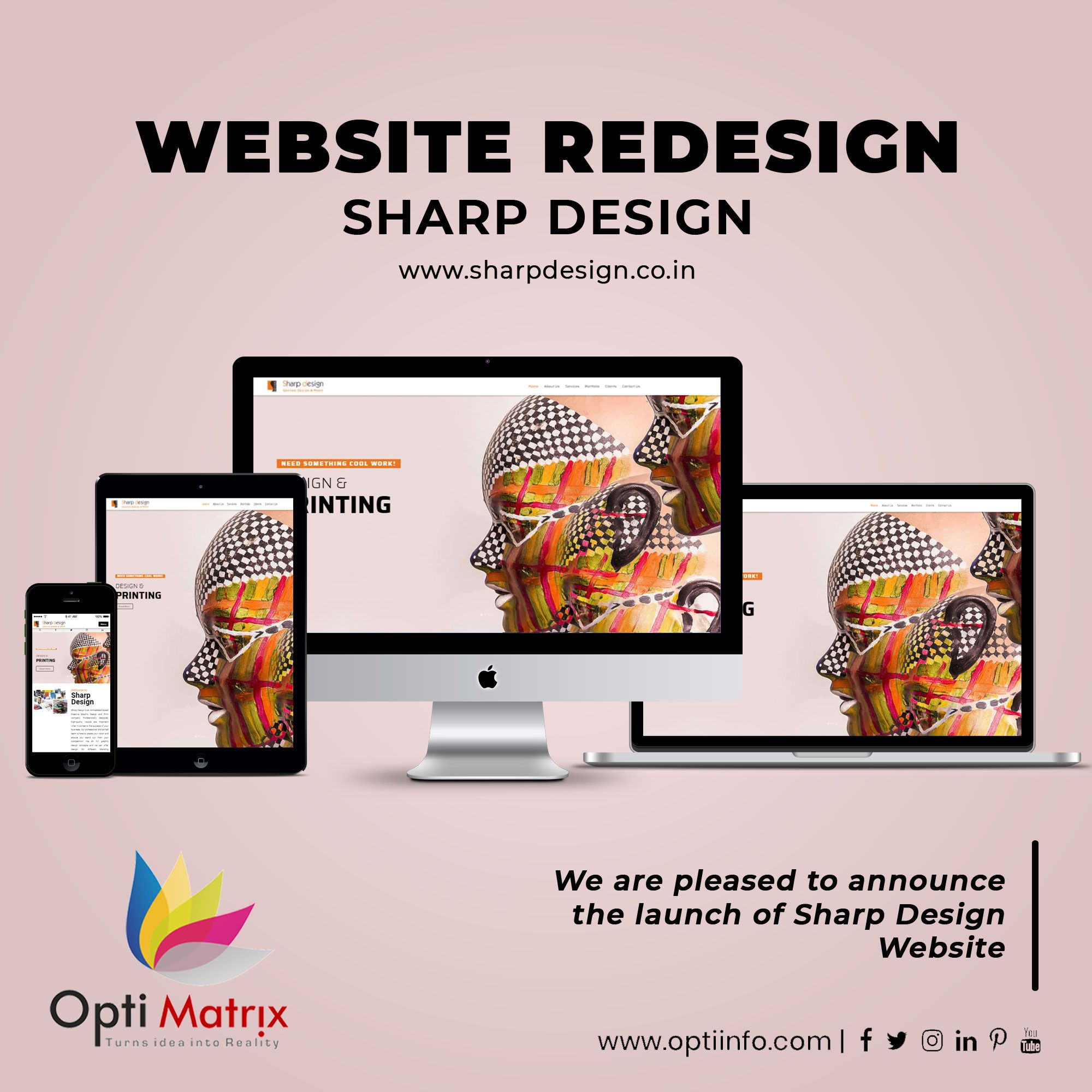 As part of our website redesign project for Sharp Design, Opti Matrix Solution has created easy to Navigate & user-friendly perfect Responsive Website.  Take a look at the complete website redesign project and leave your feedback: www.sharpdesign.co.in  #webagency #creativeagency #websiteredesign #pharmawebsite #redesign #website #optiinfo #ahmedabad #bhuj #GetYourWebsite #CustomWebDesign #WebsiteDesign #WebsiteIn2020