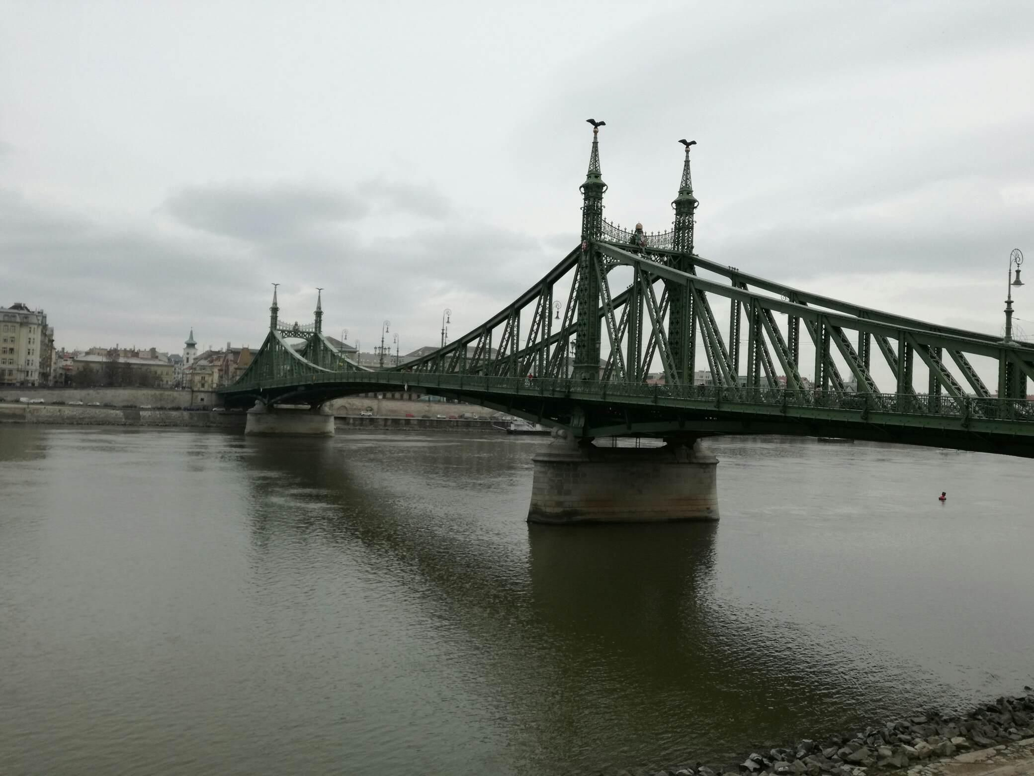 Most Wolnosci W Budapeszcie Liberty Bridge Budapest Hungary Budapest