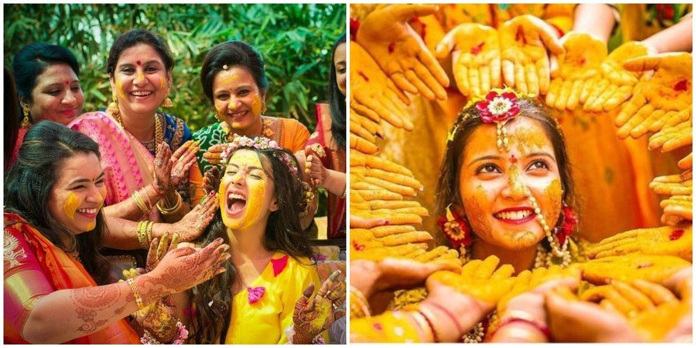 Some crazy, some cute Haldi pictures you shouldn't miss