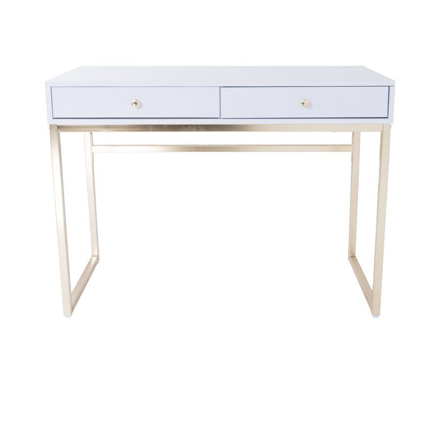 Chloe White And Gold Vanity Table