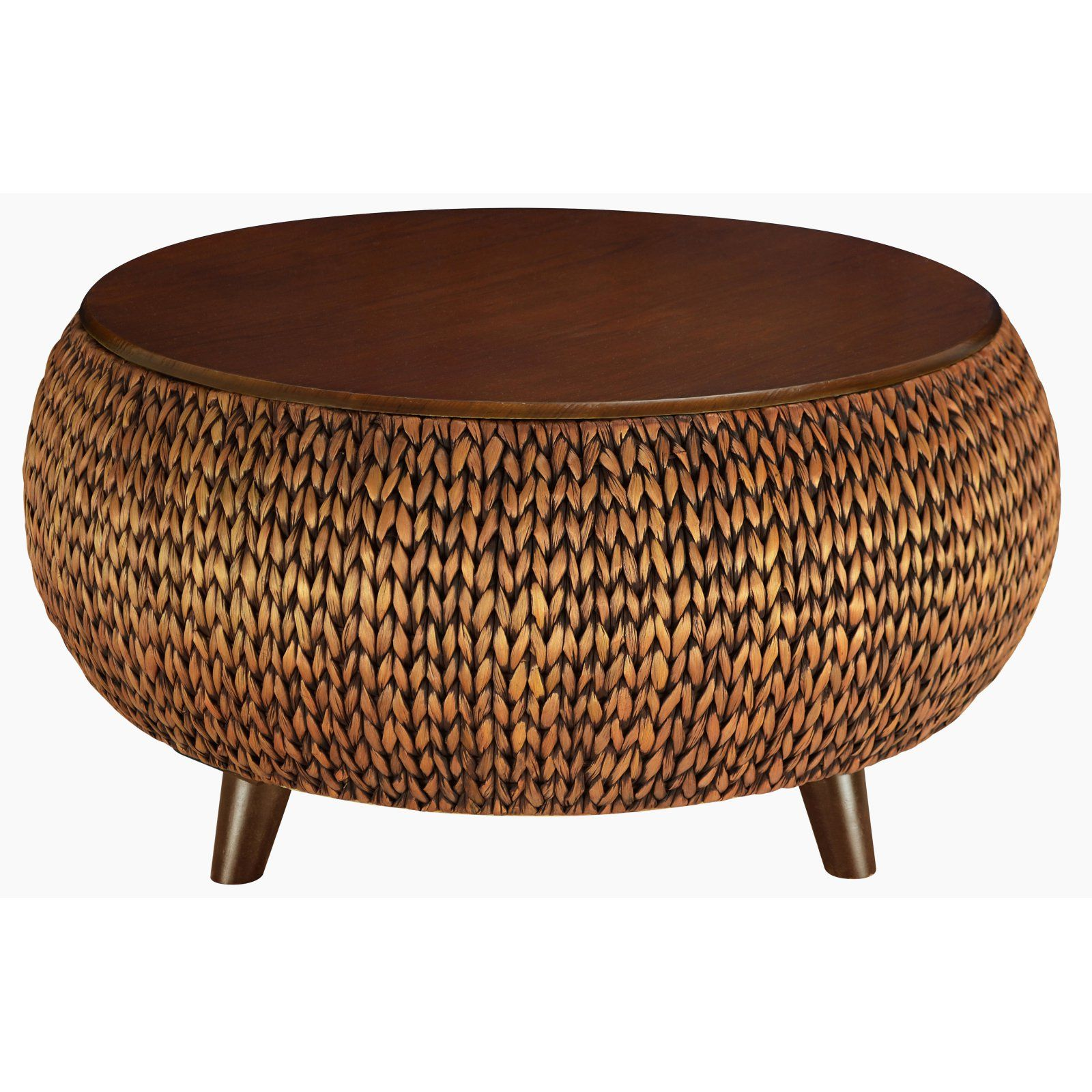 Gallerie Decor Bali Breeze Round Storage Table Coffee Table
