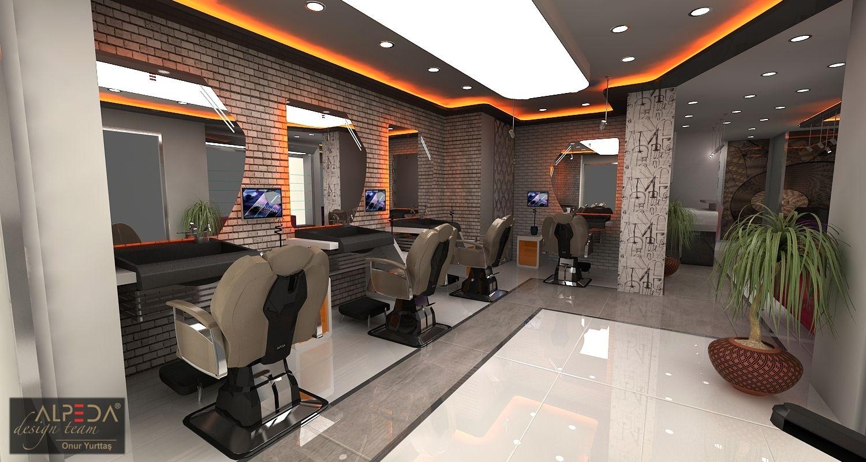 salon design interior | ... & Berber Salon Tasarimi - Hair ...