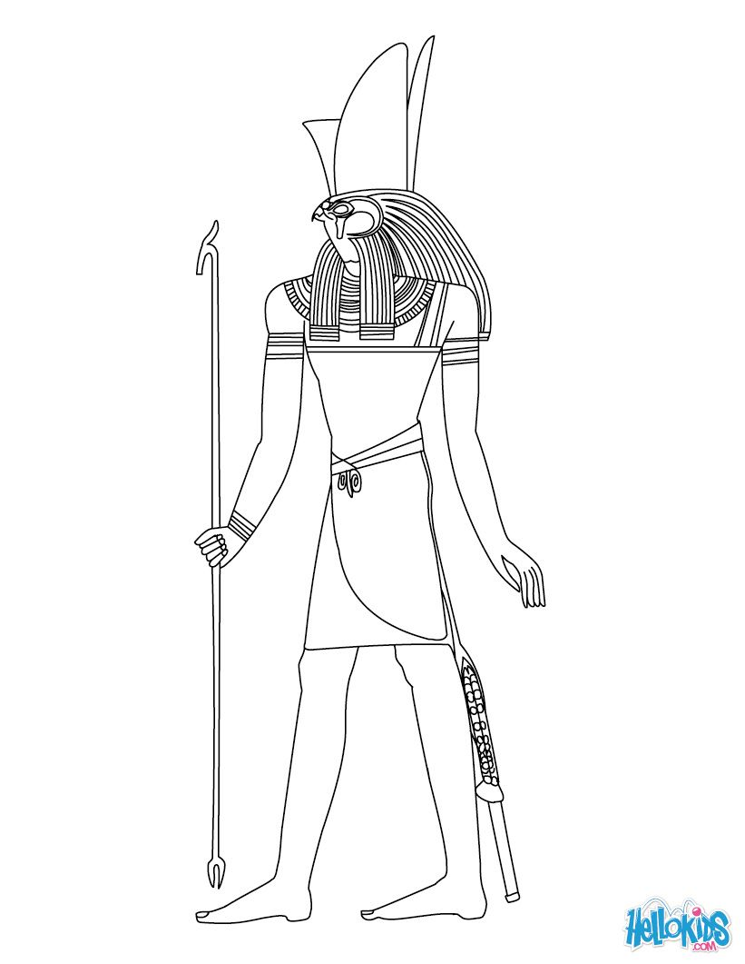 Horus Egyptian Goddess Gods Coloring Page Egyptian Gods