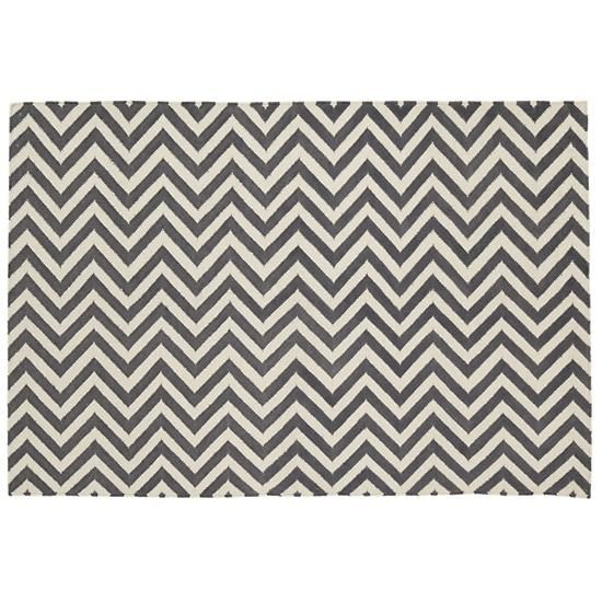 The Land Of Nod Kids Rugs Grey Chevron Patterned Rug In All