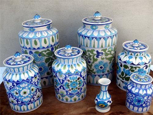 Blue Pottery Jodhpur Google Search Blue Pottery Indian Pottery Pottery