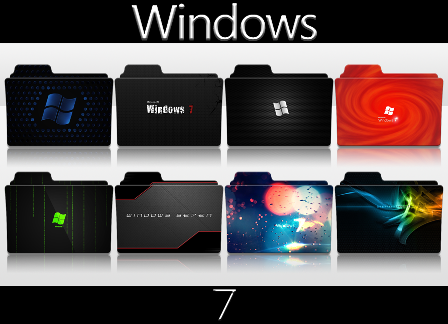 Windows 7 Folder Icon Pack by SmokeU on DeviantArt | Folder Icon in