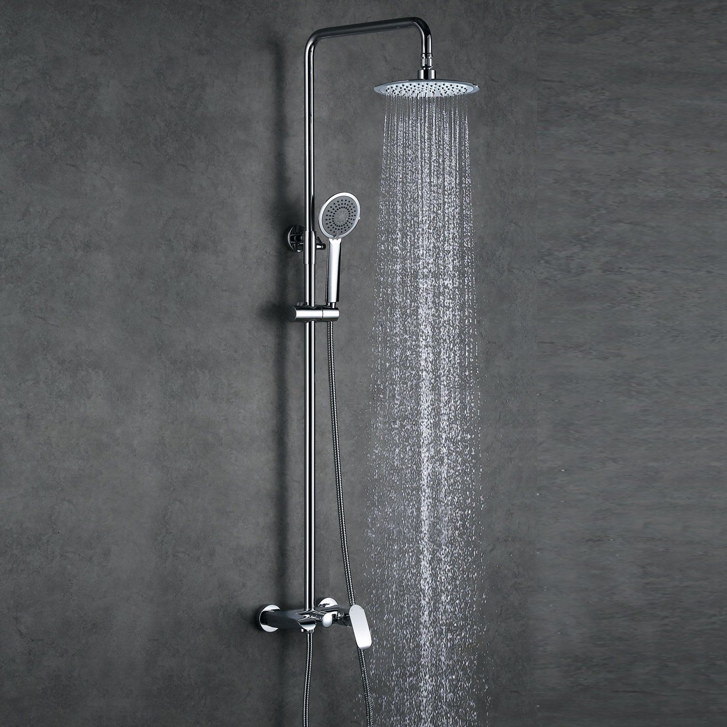 Rainfall Shower Head System Handheld With Images Shower Heads