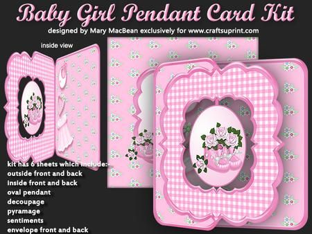 Baby Girl Pendant Card Kit