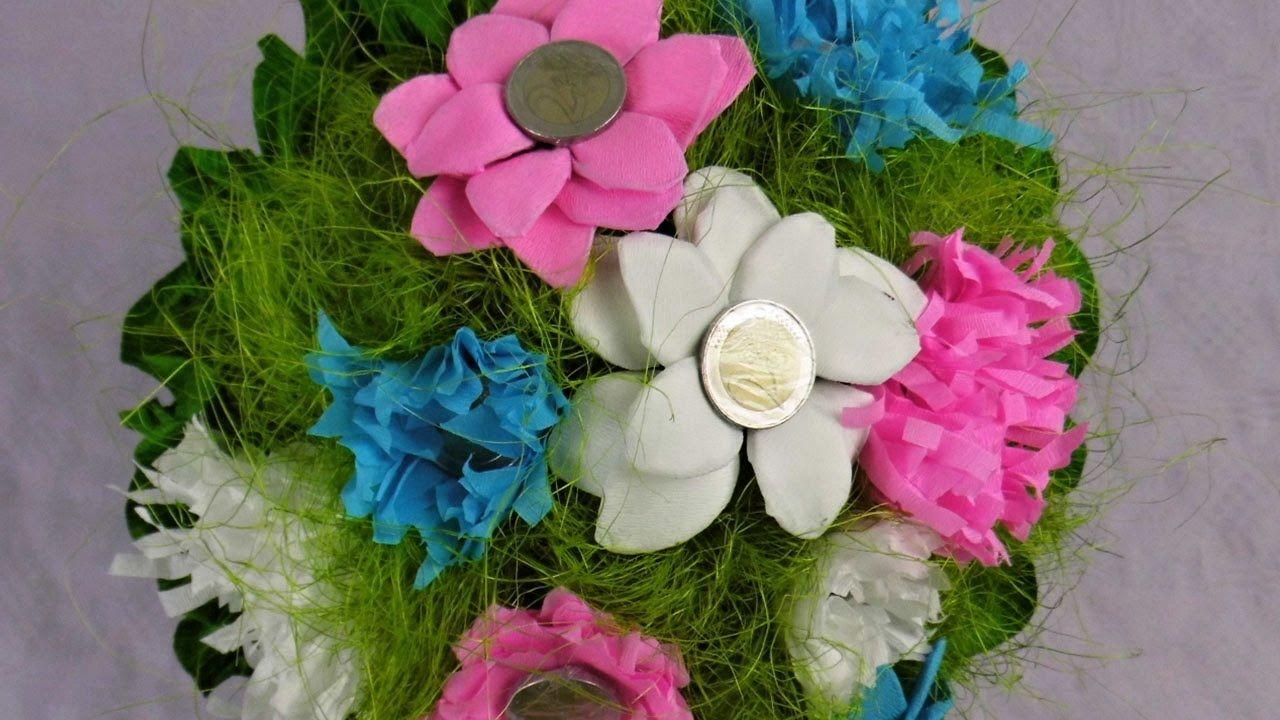 geldgeschenk blumenstrau basteln deko ideen mit flora shop denenecek projeler pinterest flora. Black Bedroom Furniture Sets. Home Design Ideas