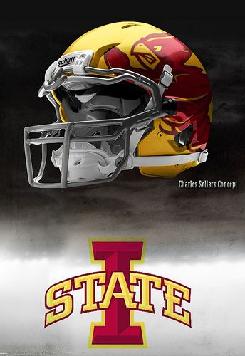Iowa State Yellow With Images Football Helmets Iowa State