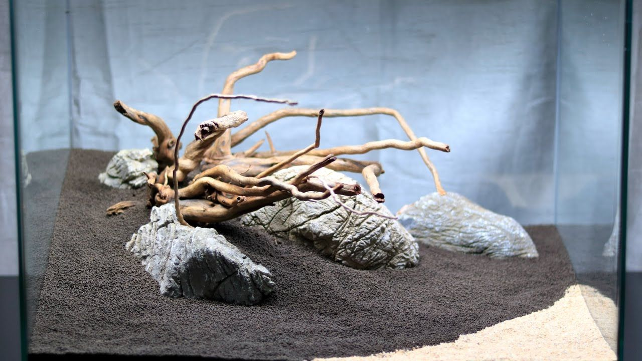 Simple aquascape step by step - part 1 - Hardscape | What ...