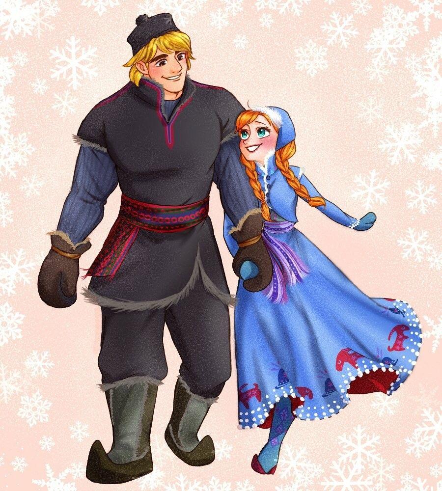 Anna and Kristoff Disney sketches, Disney fan art