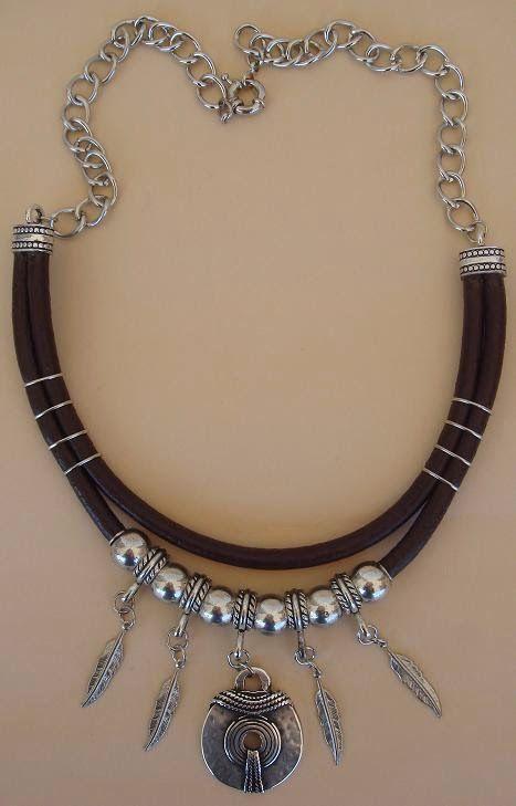 Genuine leather nacklace - 28 €. www.yucamar.tictail.com