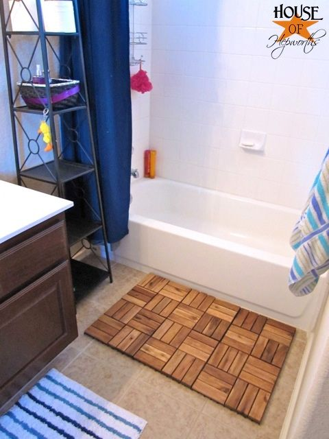 Create A Spa Bath Mat Using Ikea Outdoor Decking Ikea Hack