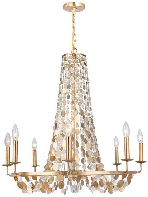 Eight light antique gold shimmer sparkle chandelier dining eight light antique gold shimmer sparkle chandelier aloadofball Images