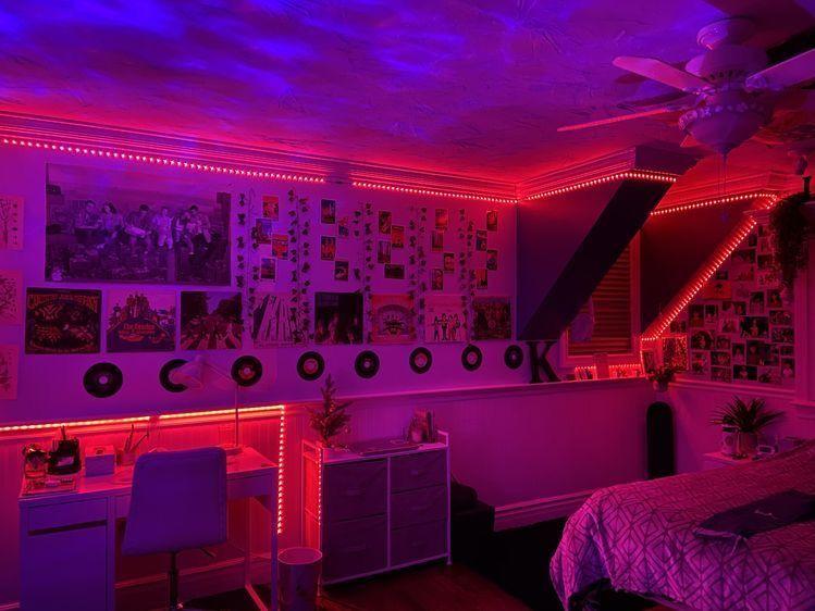 Aesthetic Bedroom Led Pinterest Katherinebillit Neon Bedroom Redecorate Bedroom Neon Room