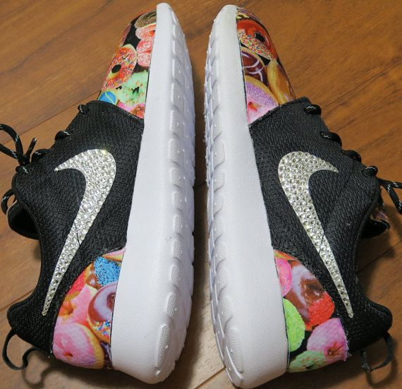 Custom Nike Roshe Run Donut Hot Coffee Bling by LeedasWorld