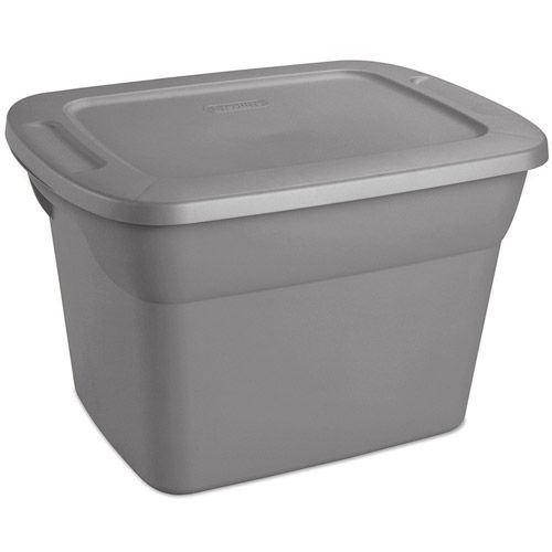 Sterilite 10 Gal 38 L Tote Box Steel Walmart Com Sterilite 10 Things Bathroom Items