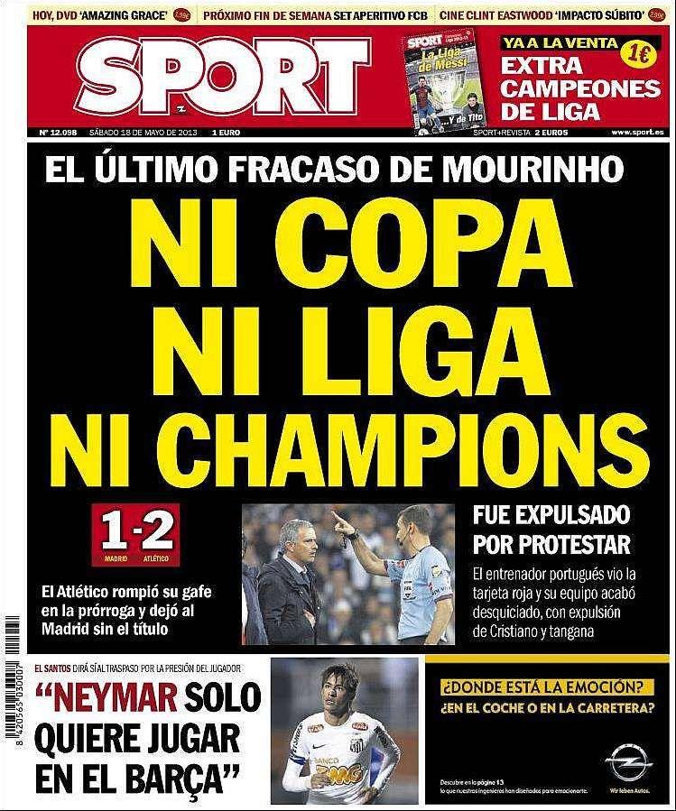 Revista de prensa Portadas deportivas