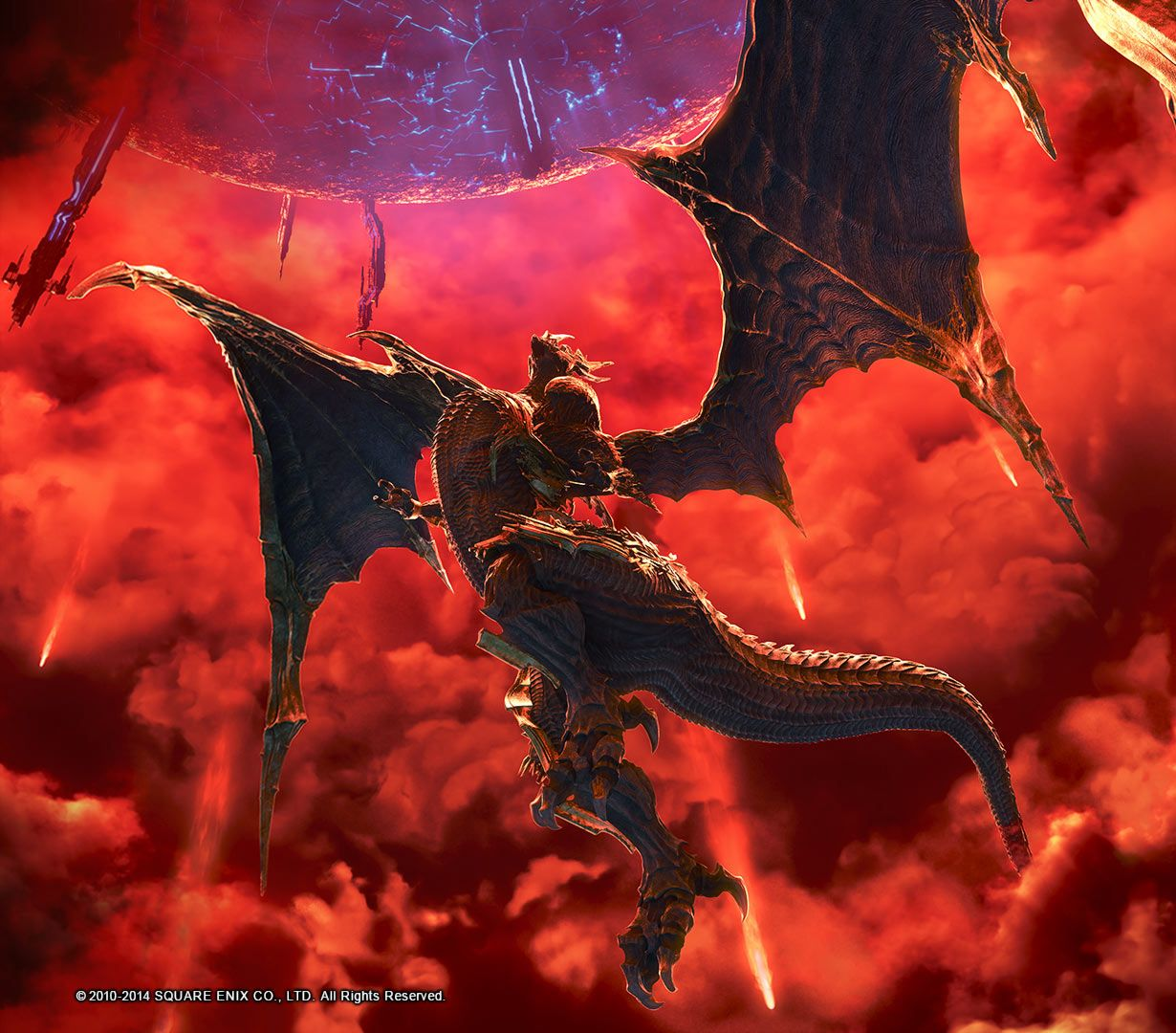 Bahamut & Meteor from Final Fantasy XIV: A Realm Reborn