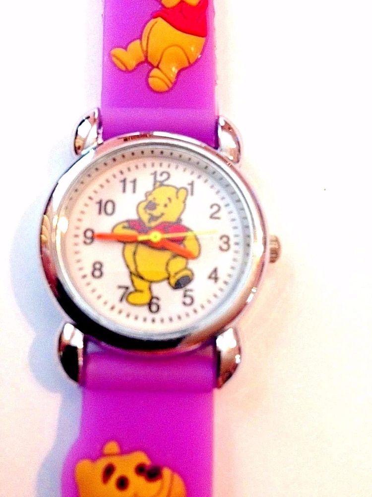 New Purple WINNIE THE POOH Boys/ Girls Watch 3-D | eBay | Disney ...