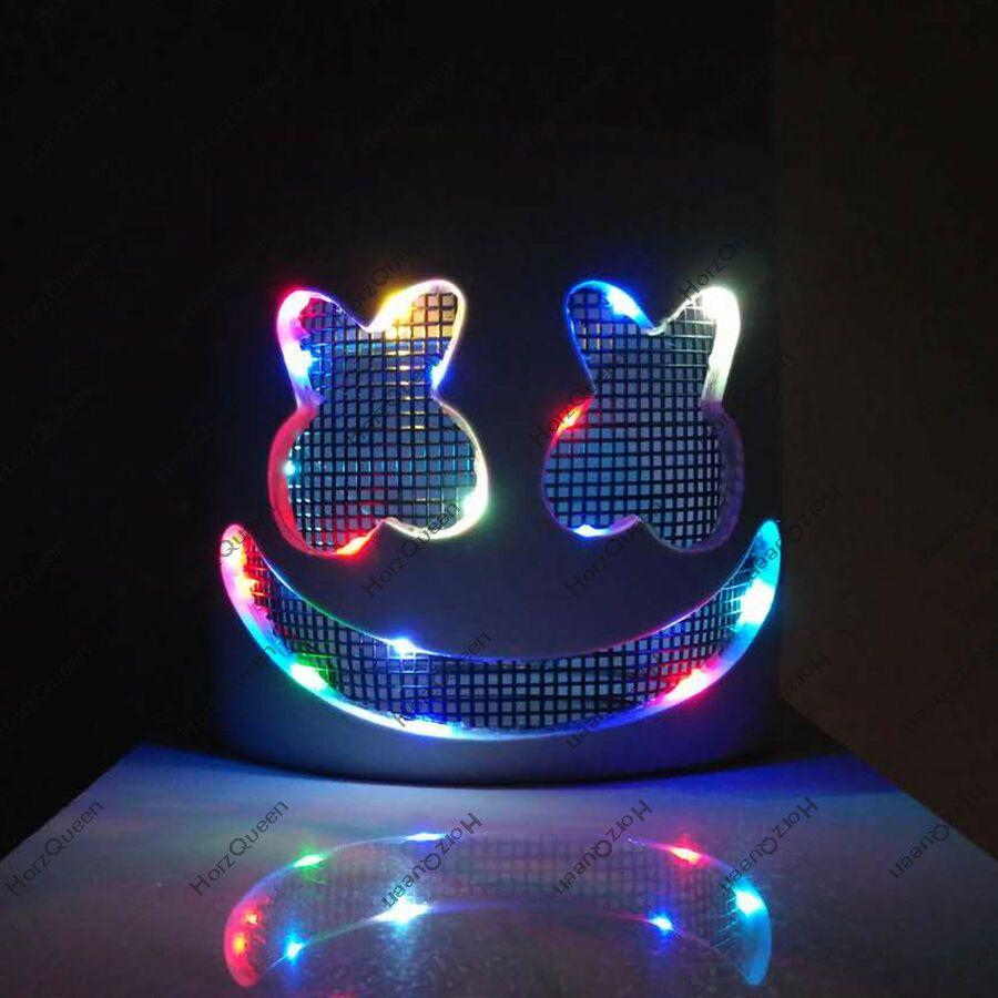 Gone Soon!!! MarshMello DJ Mask LED Flash Full Head Helmet Cosplay Music Party