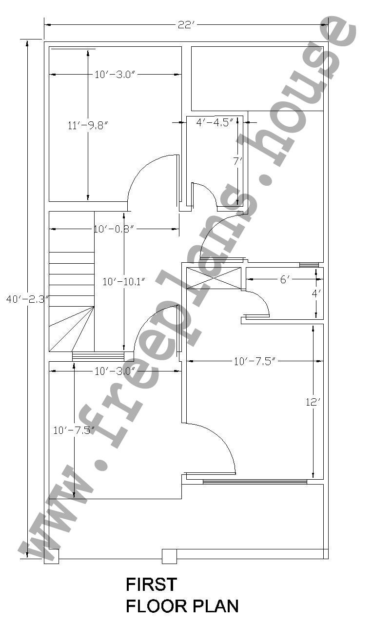 22x40 Feet 81 Square Meter House Plan Plans Pinterest Wiring In Pakistan