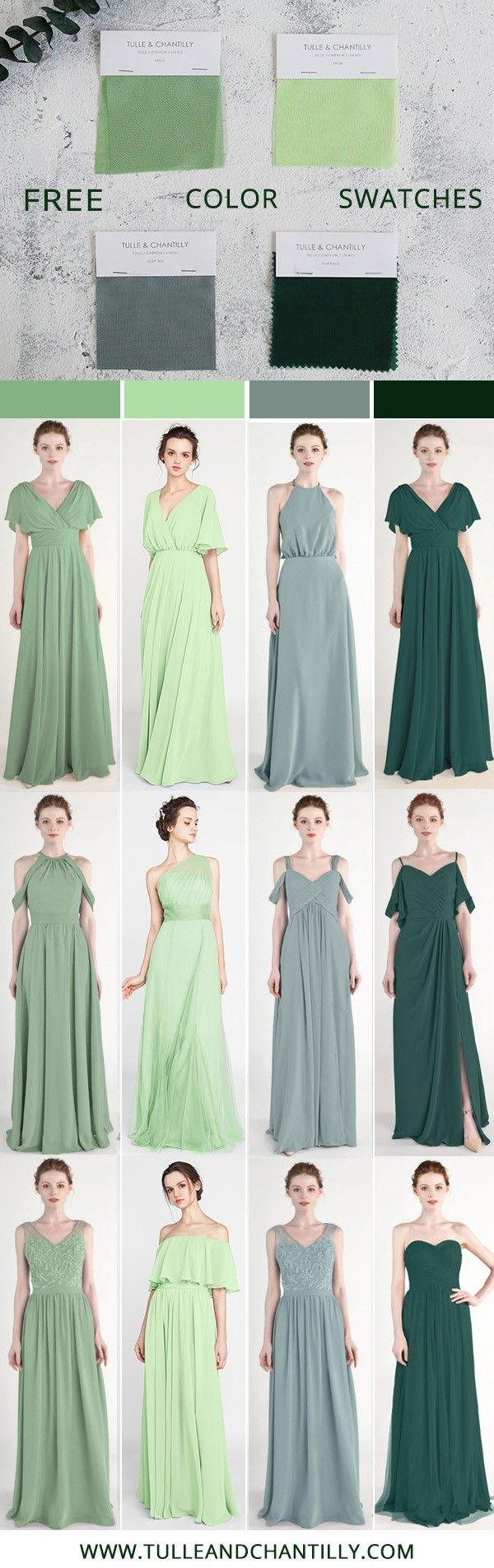Tulle And Chantilly Bridesmaid Dress Swatch Kits Bridesmaid Dresses Long Chiffon Dress Swatch Custom Bridesmaid Dress