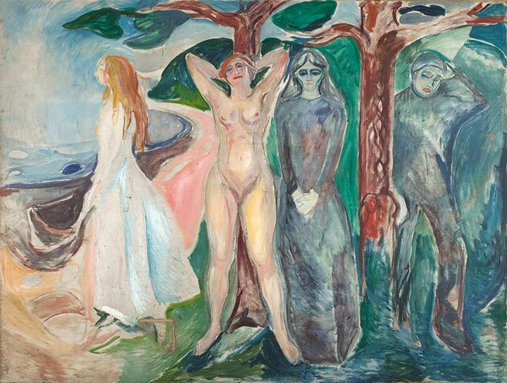 The Woman 1916–18 / Oil on canvas / 200 x 267 cm Munch Museum