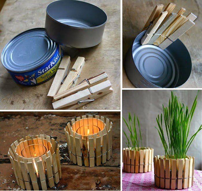 Ideas para reciclar latas de atn Crafty Ideas Pinterest