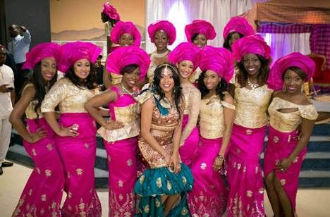 Apbride Stella S Traditional Igbo Wedding Was A Fusion Of Cultures Since Her Husband To Be Is Liberian