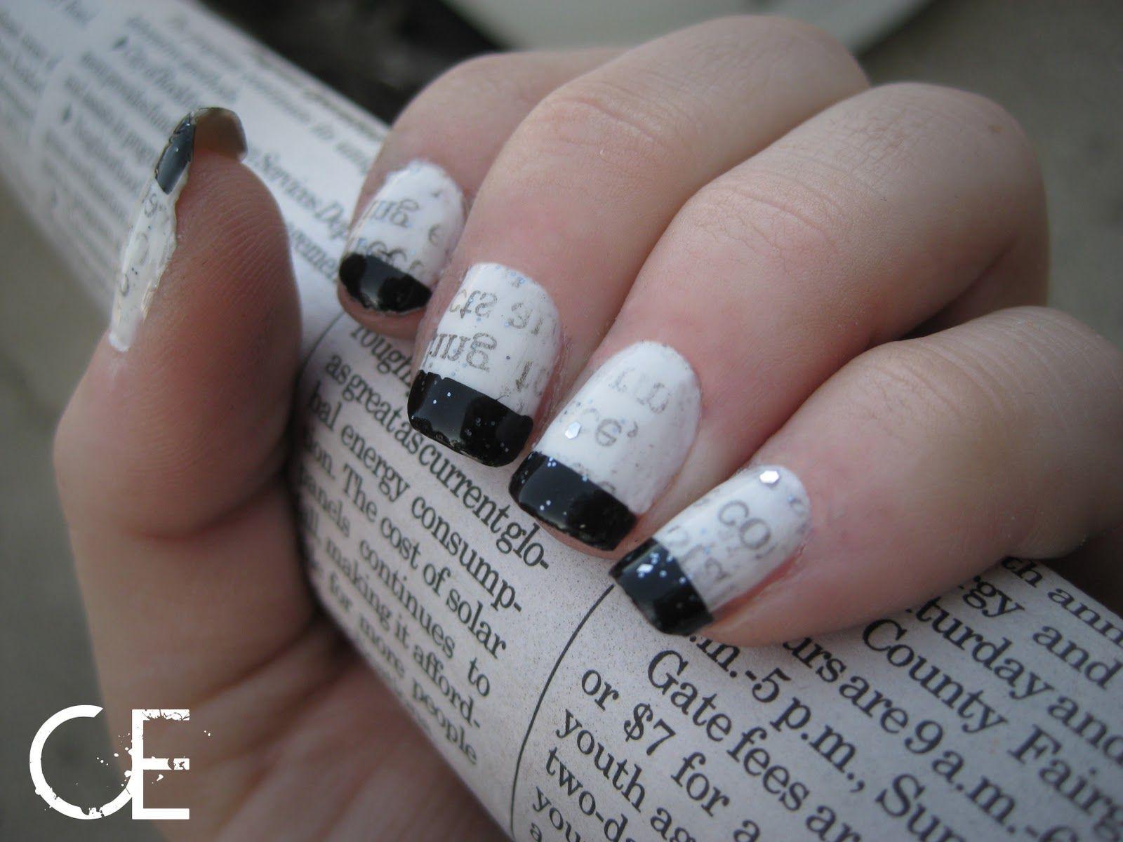 newsprint nails | Newsprint Nails! | Nails | Pinterest | Newsprint ...