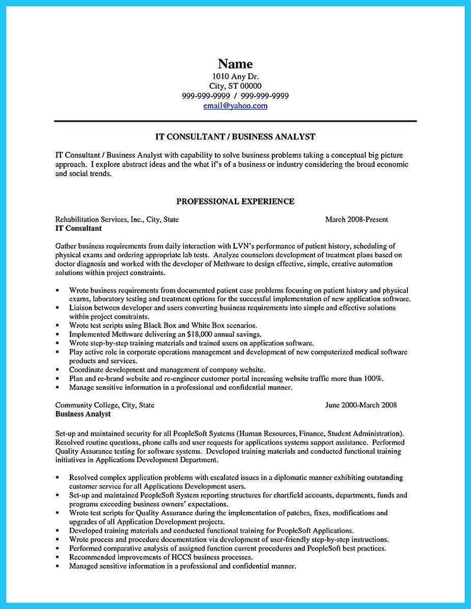 Business Resume Templates Awesome Create Your Astonishing Business Analyst Resume And Gain