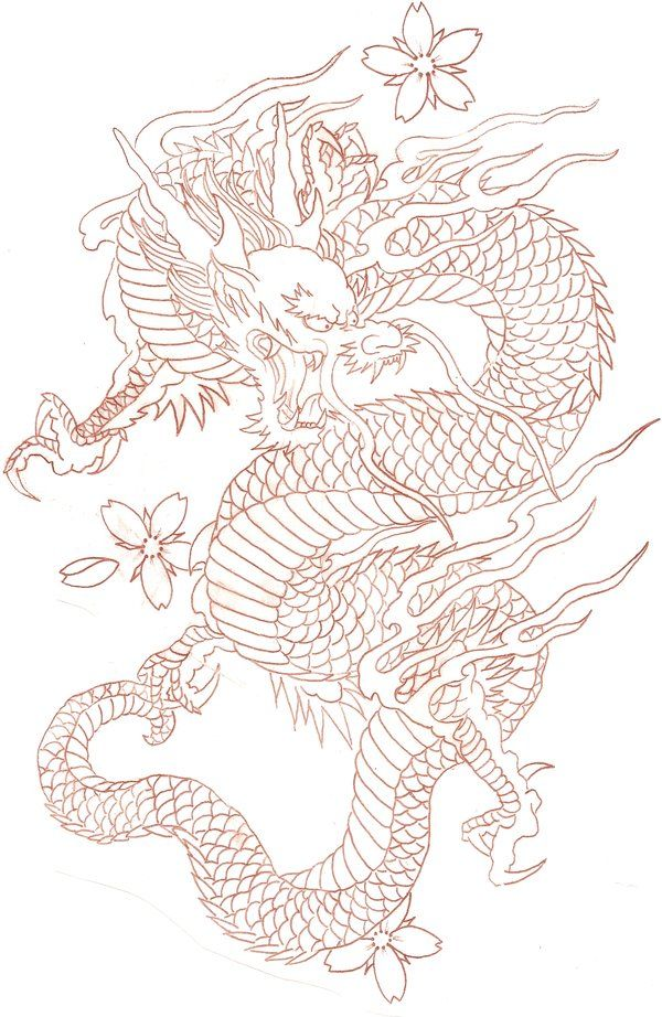Cherry Dragon By Tat 2 U On Deviantart Dragon Tattoo Designs Japanese Dragon Tattoos Dragon Tattoo
