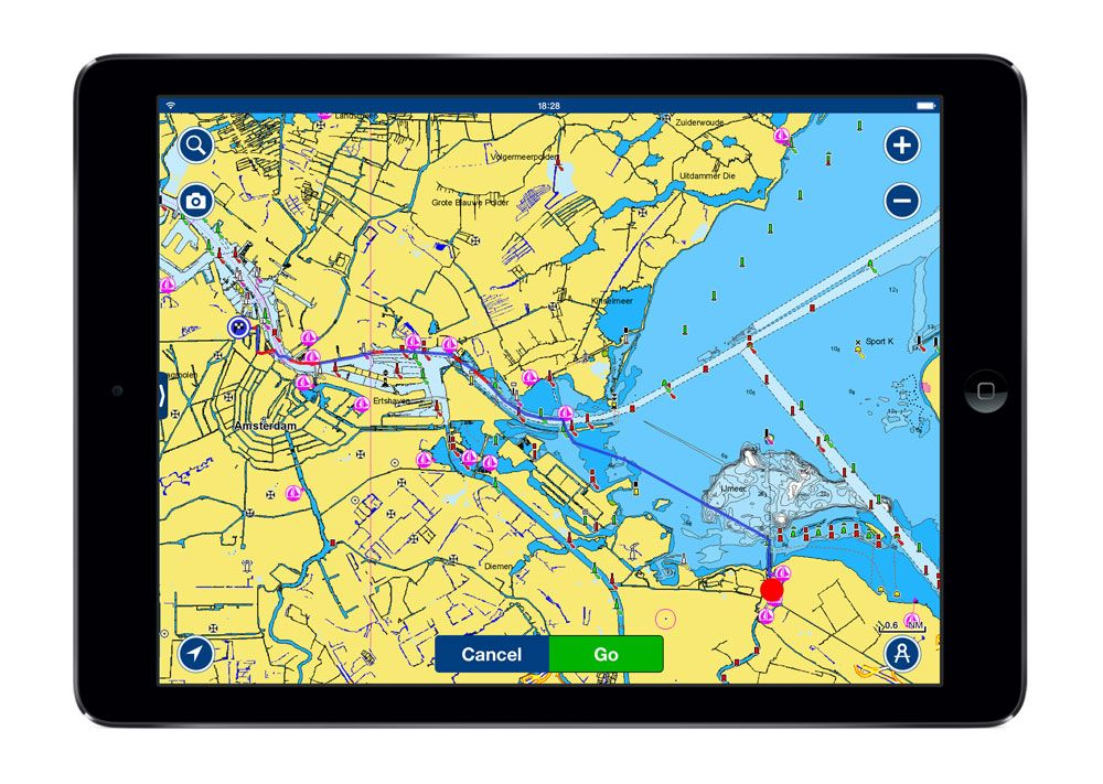 Dock to dock autorouting from Navionics can calculate the