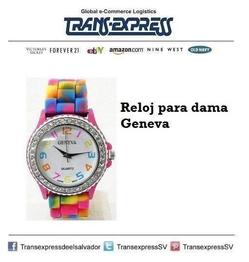 Un reloj muy colorido para las damas con estilo.  Costo del artículo puesto en El Salvador: $20.34  http://amzn.com/B007TCL7L8