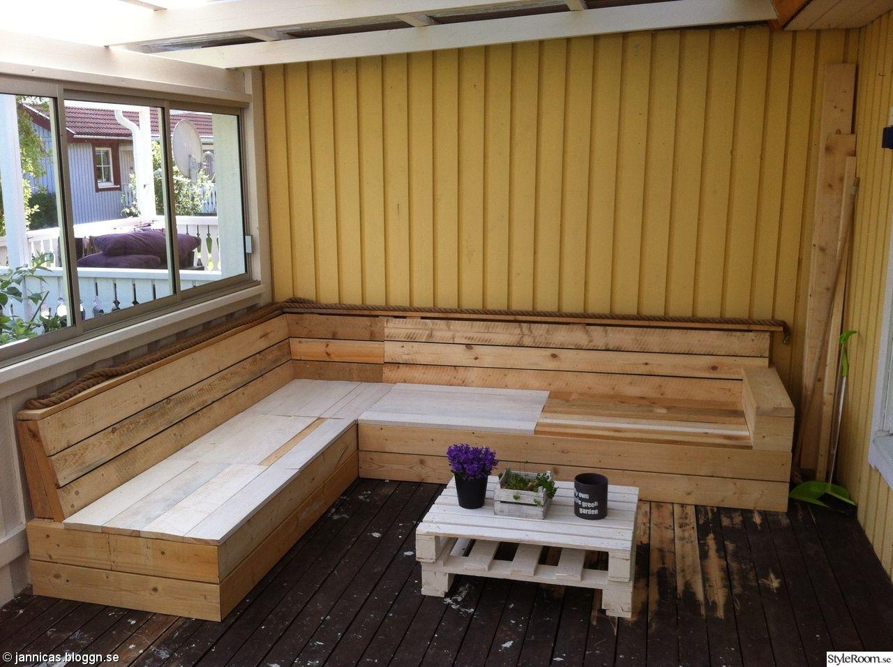 platsbyggd bänk ritning ~ hemmabyggdsoffa,altan  garden  pinterest  uterum
