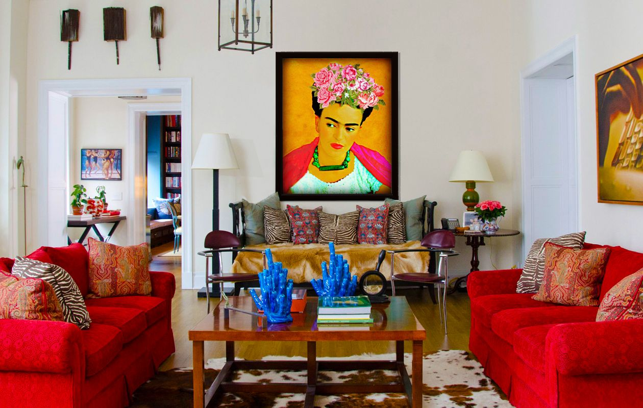 Frida Is In The House Liv Corday Mexican Living Rooms Living Room Colors Mexican Style Decor