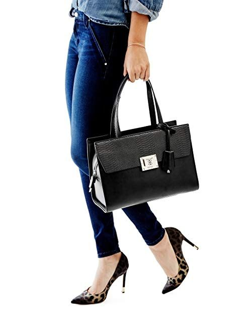 Guess Tasche ANGELA Madison Satchel black, HWVG5068060