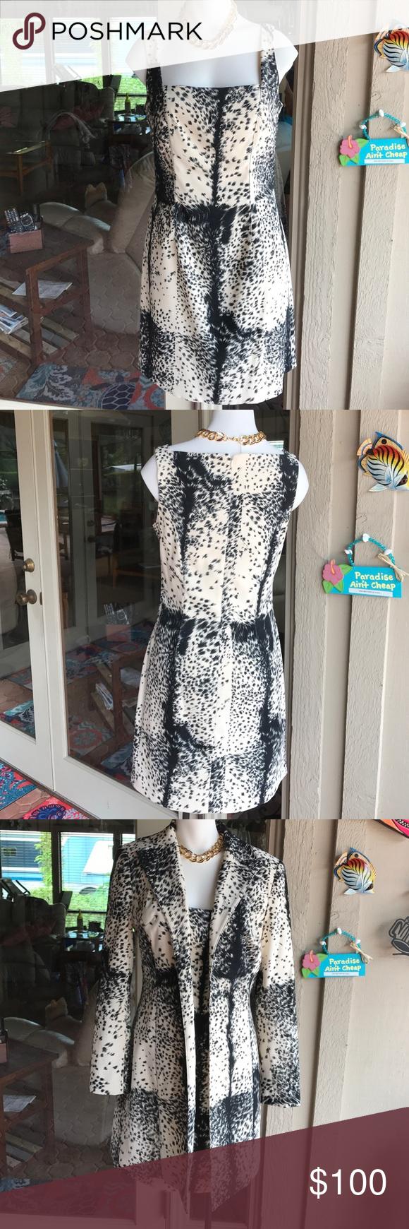 Vintage coat with matching dress ooh lala fabulous animal print