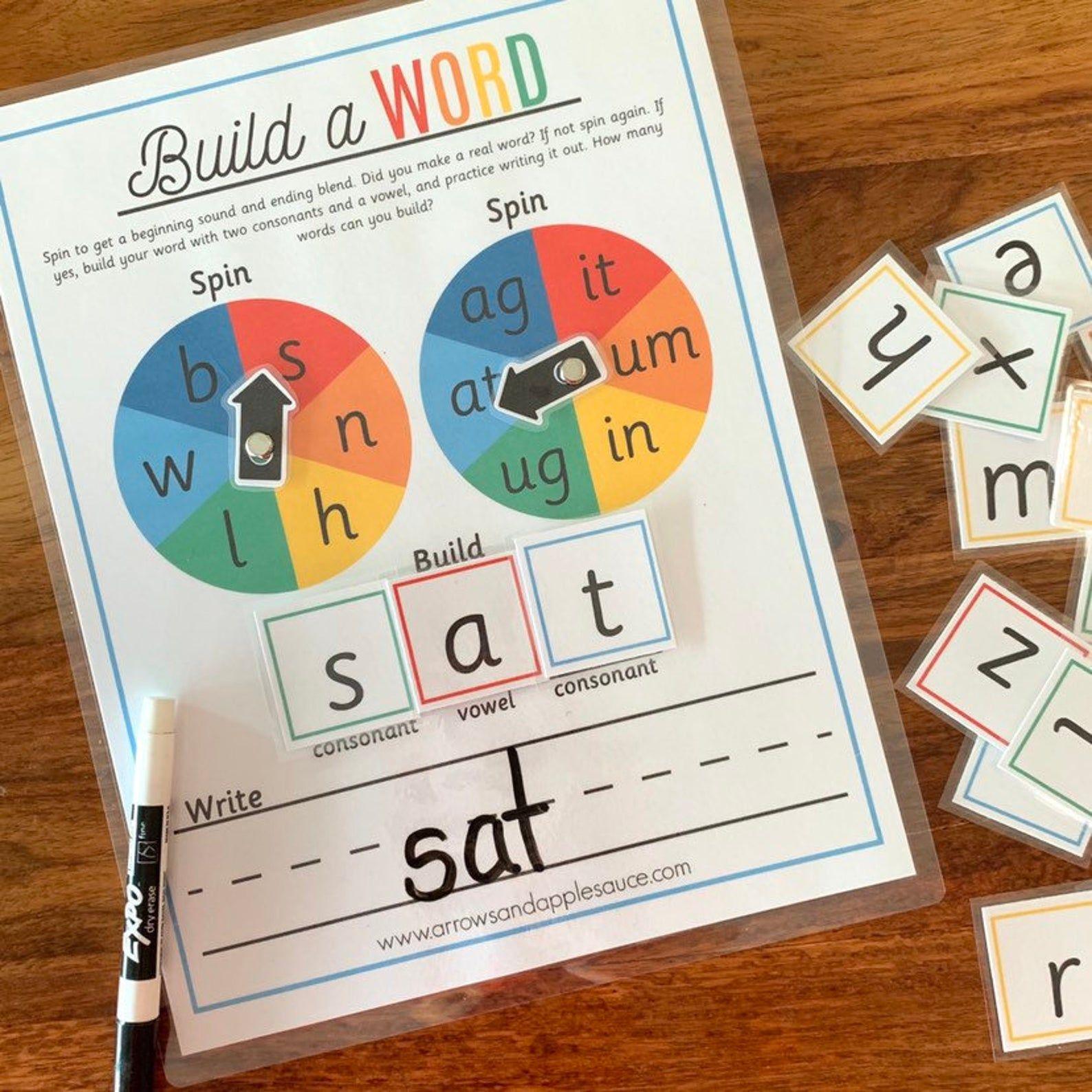 CVC Reading Game Printable Sight Word Practice Beginning