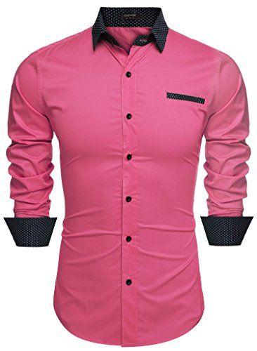 d7b8e6a4a7 Coofandy Mens Fashion Slim Fit Long Sleeve Patchwork Casu... http