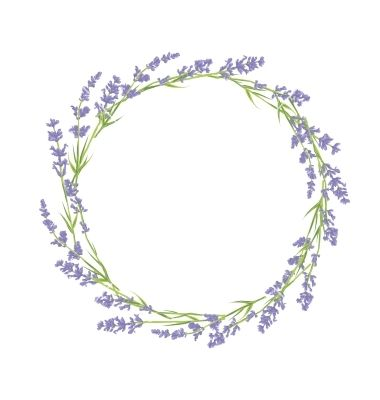 Circle Of Lavender Flowers Vector Image On Vectorstock Wreath Drawing Flower Drawing Wreath Watercolor