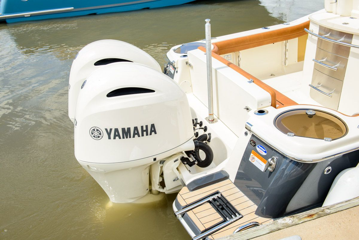 Twin White Yamaha Outboards On This Scout Model Boats Outboard Outboard Motors