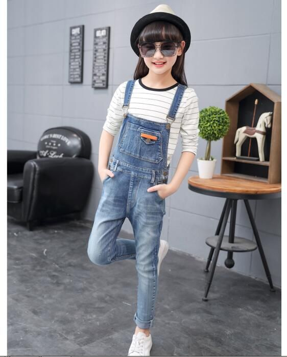 Nice 2017 autumn children s clothing girls jeans denim blue baby girl jeans  for girls big kids clothes jeans overalls long trousers -  35.98 - Buy it  Now! 2894a9c66471