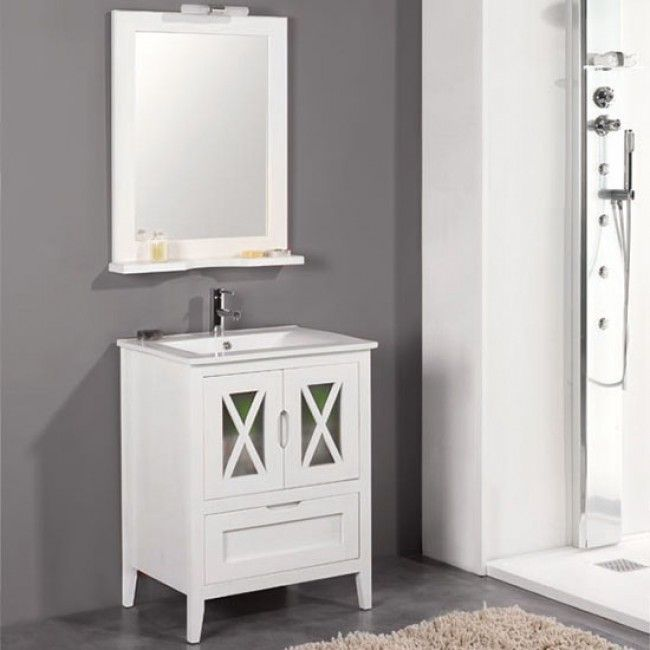 Mueble de ba o r stico vila 70 cm con lavabo en 2019 for Muebles de lavabo de 70 cm