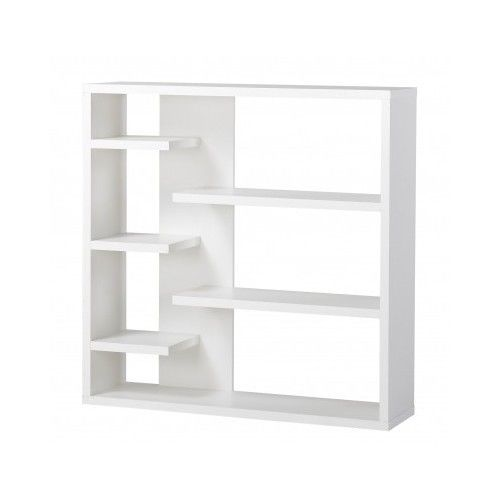 Modern White Bookcase Bookshelf Storage 6 Tier Wood Furniture Contemporary