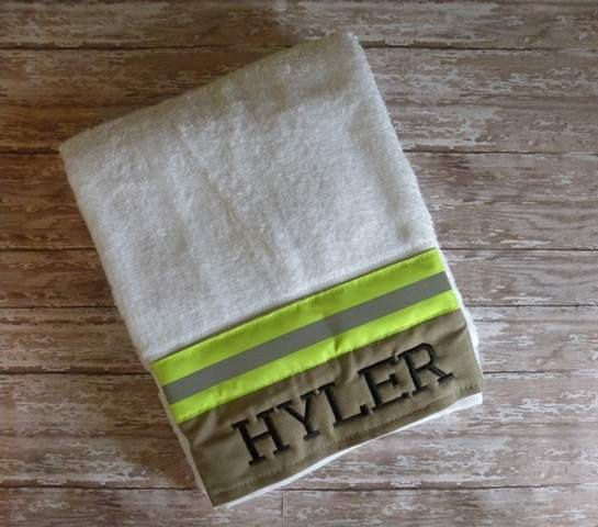 personalized brown graduation gift towel