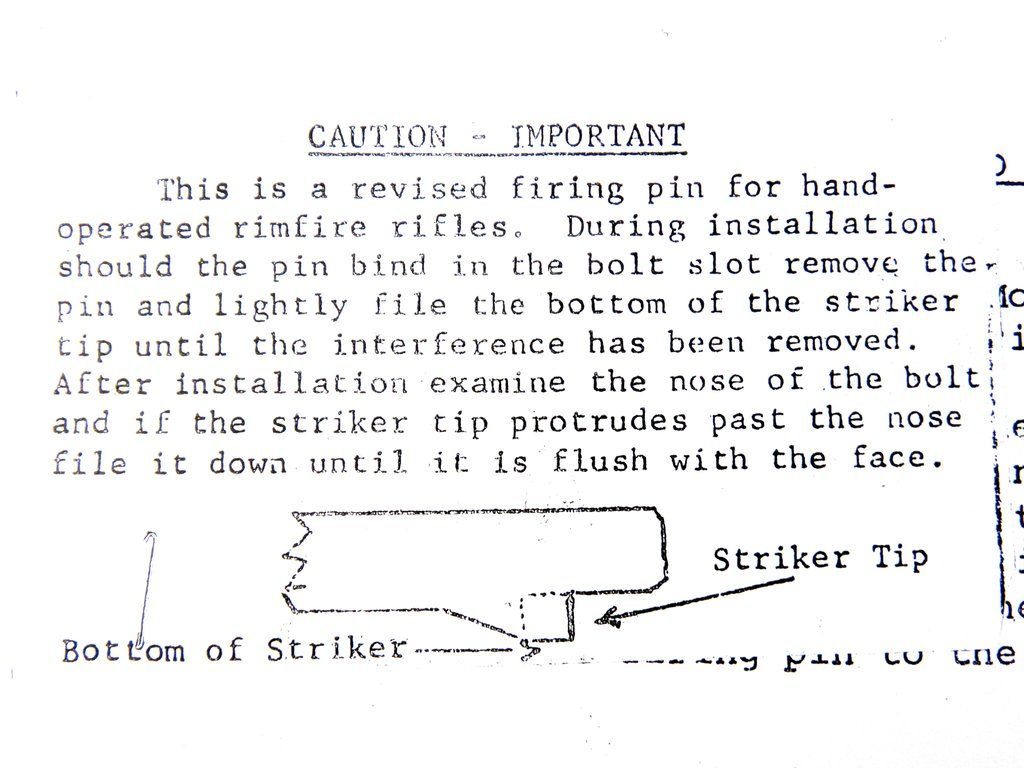 45a467e25d WINCHESTER MODEL 190 / 290 FIRING PIN FITTING INSTRUCTIONS | BLOG ...